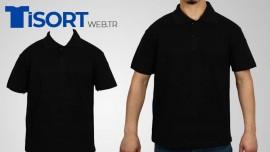Siyah Polo Yaka Tişört