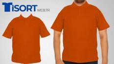 Turuncu Polo Yaka Tişört