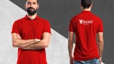 Polo Yaka Tişört Kırmızı
