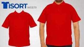 Kırmızı Polo Yaka Tişört