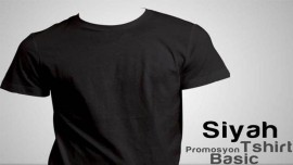 Siyah Promosyon Tişört