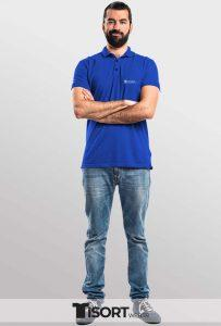 Polo Yaka Tİşört İmalatı Saks Mavi