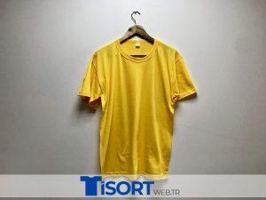 Ucuz Sarı Tişört